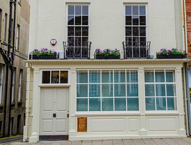 Period building sash window renovation in Lewes on the Old Post Office