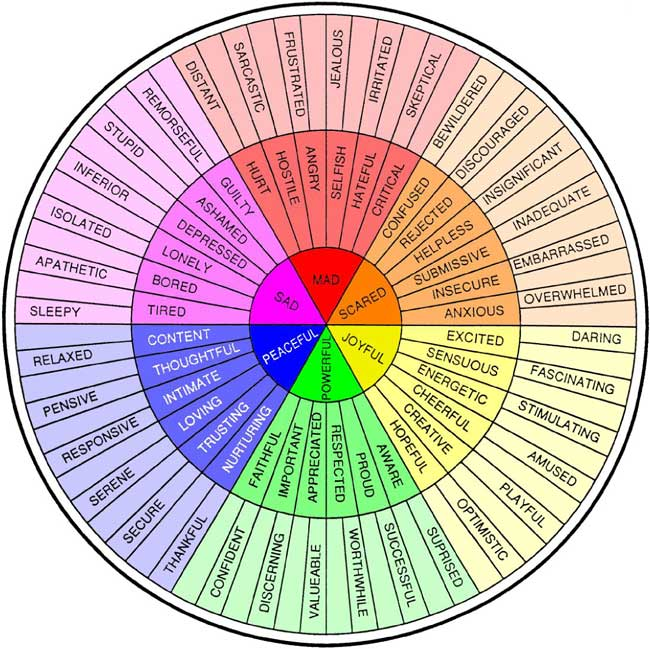 Feelings wheel