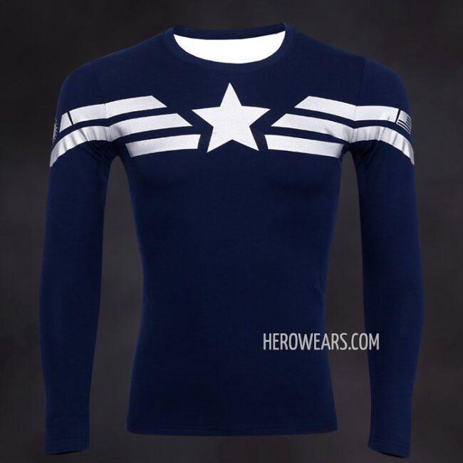 Captain America Stealth Compression Shirt Rashguard