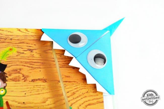 origami shark bookmark on book1