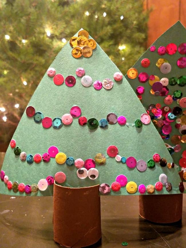 Sequins Christmas Tree Craft