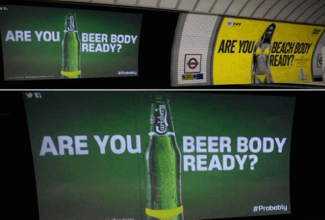 metro birra pubblicità