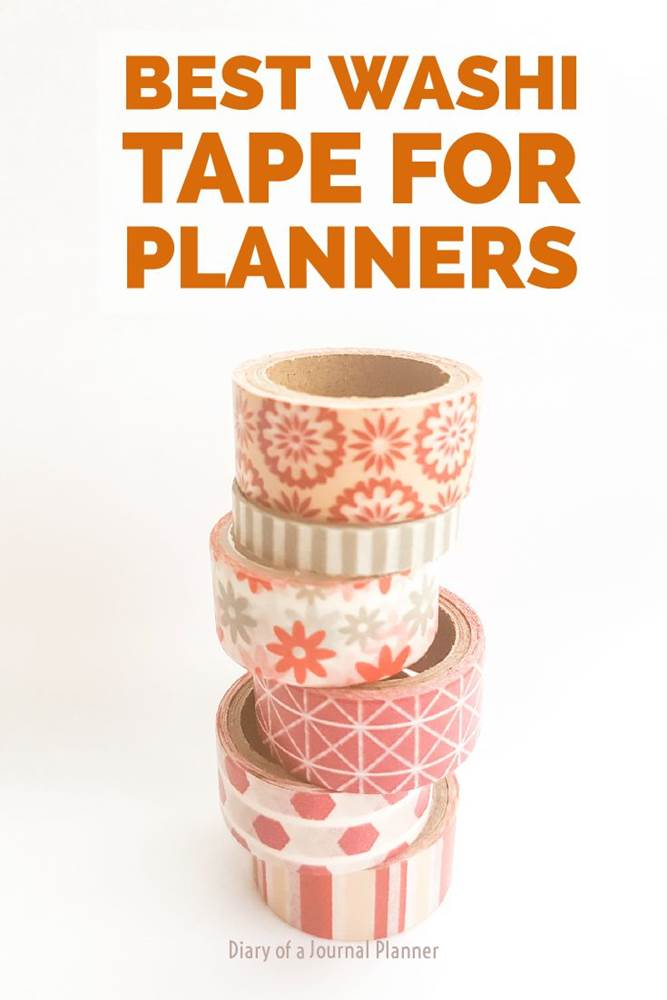Best washi tapes for your planner #washi #washitape #washitapeprojects #dailyplanners #lifeplanners #bulletjournal #bujo
