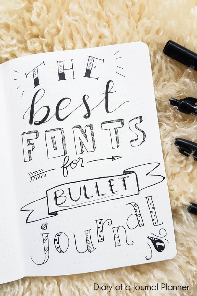The best fonts for bullet journal