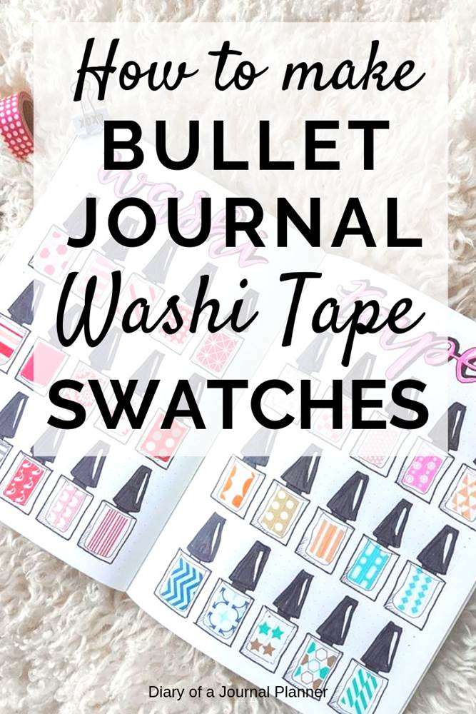 how to make bujo washi tape swatches