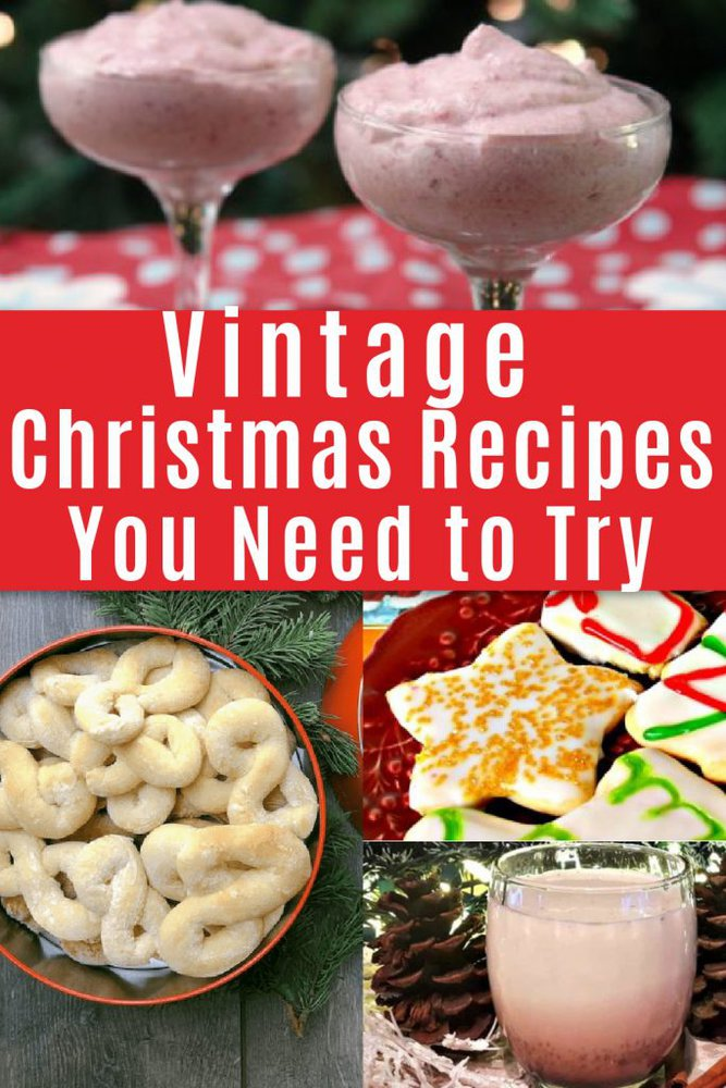collage of vintage christmas recipes