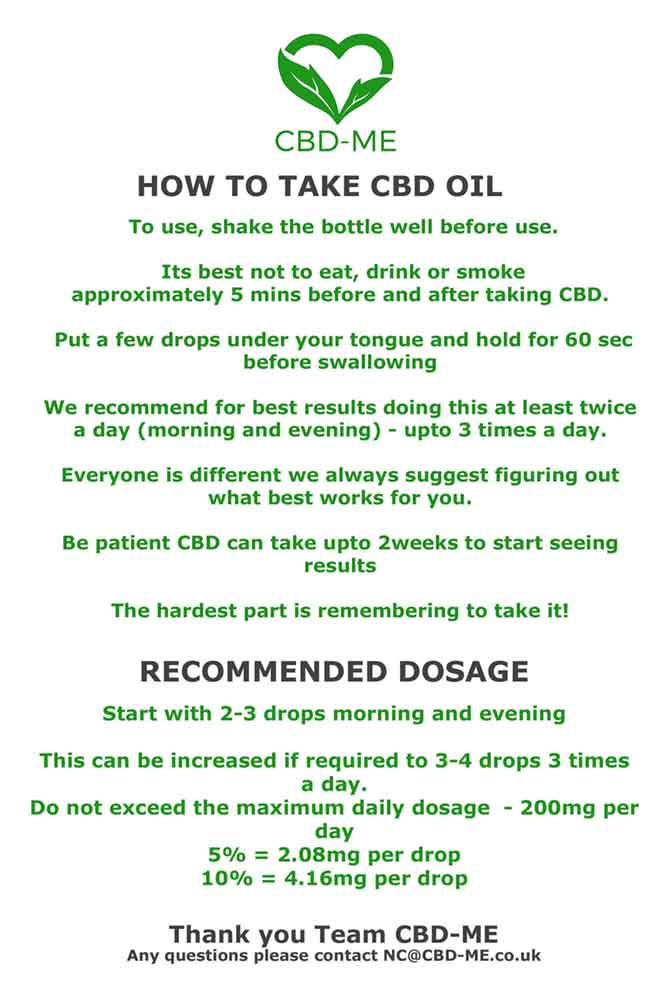 CBD dosage instructions 'How to use CBD '