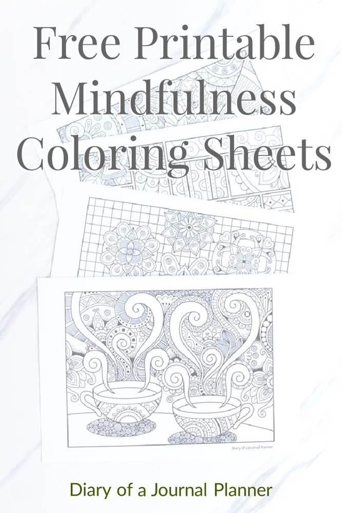 Mindfulness colouring pdf book