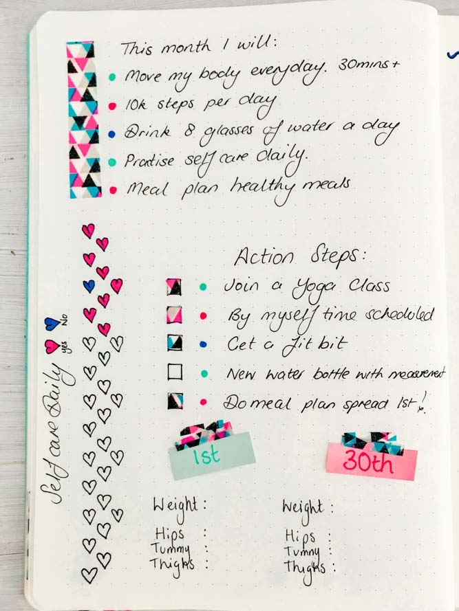 washi tape planner decoration