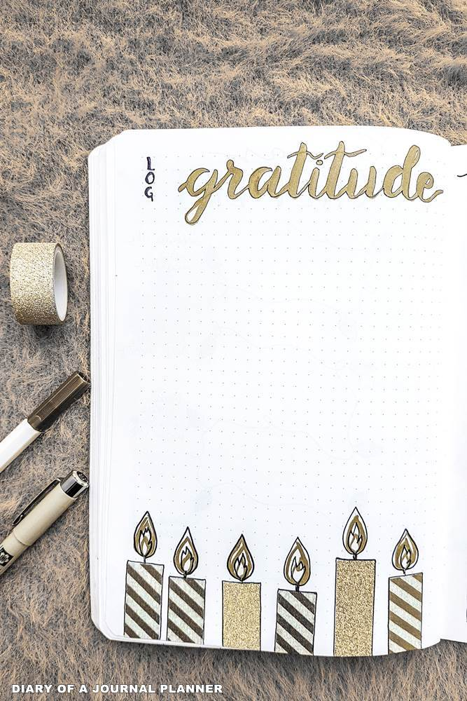 December gratitude log bullet journal