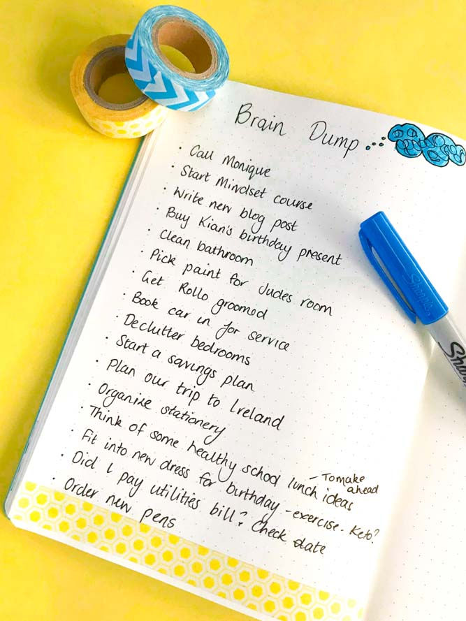 use washi tape in your planner