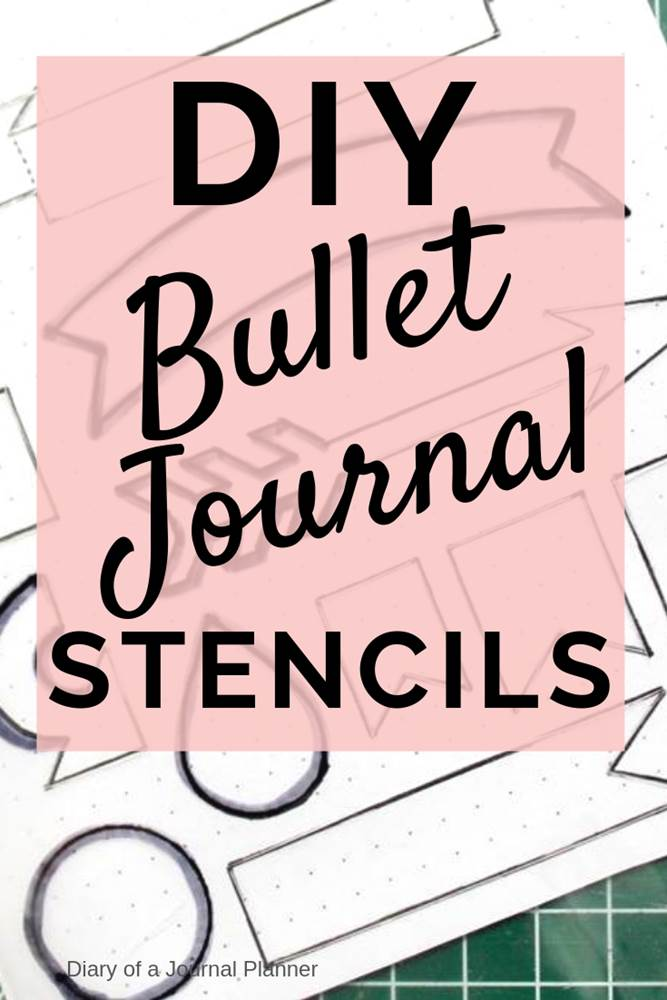 DIY bullet journal stencils