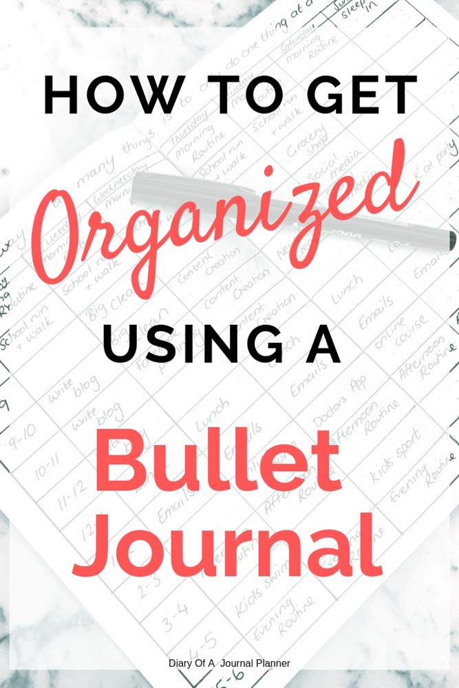 How to be organized with these easy Bullet Journal hacks. Organization Layouts that will help you be more productive and organized with all areas of your life.