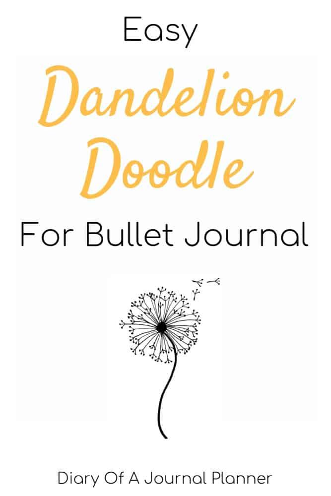 Easy Dandelion Doodle For Bullet Journal