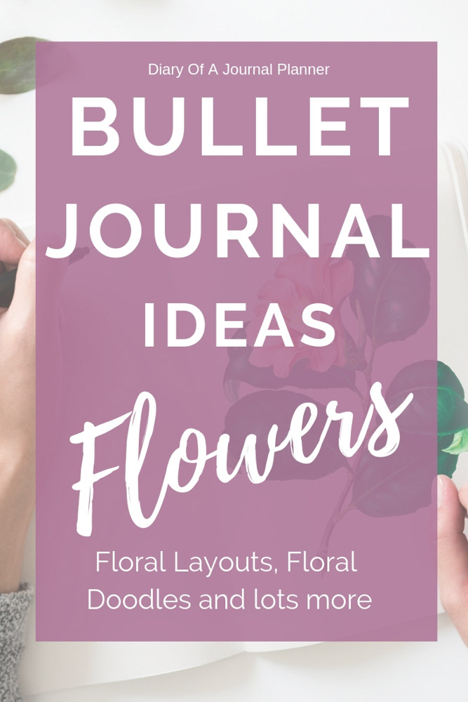Flower bullet journal themes