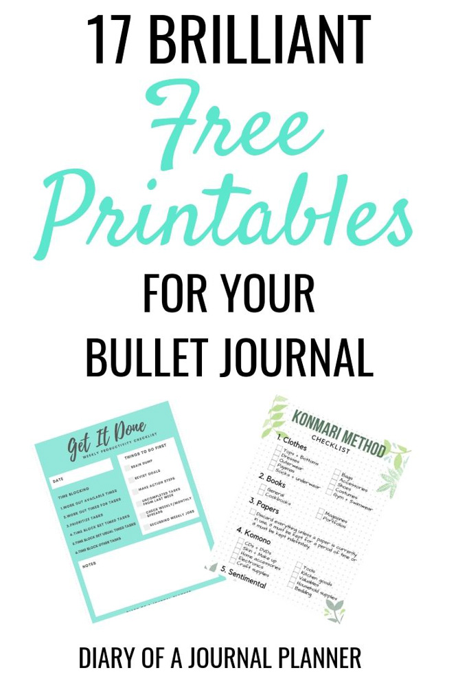 It's just an image of Free Printable Bullet Journal with log