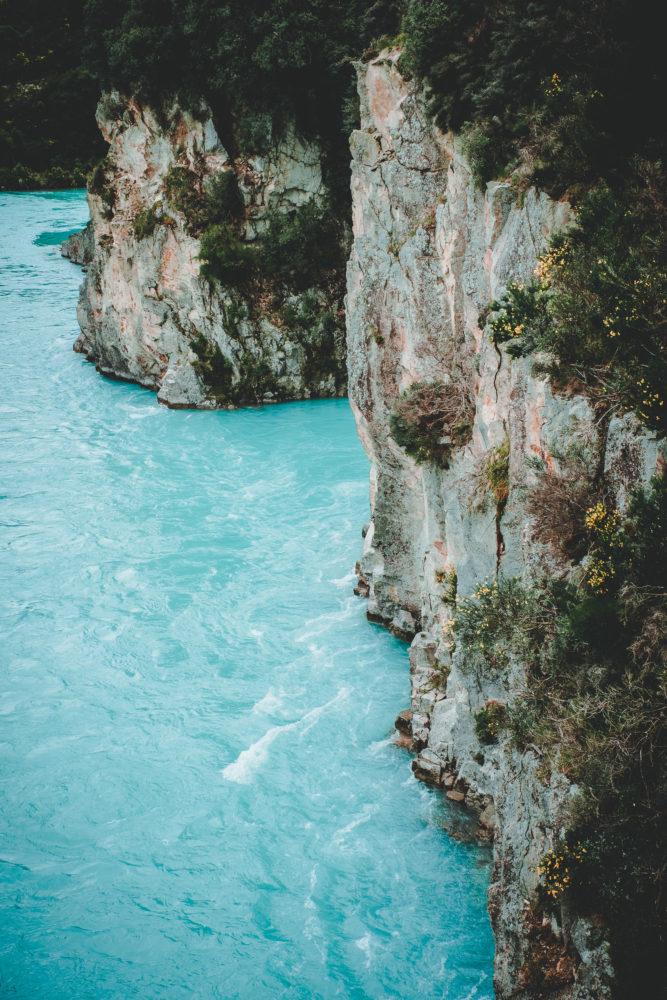 Klippen in der Rakaia Gorge