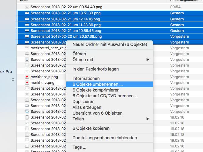 Dateien am Mac umbenennen 1