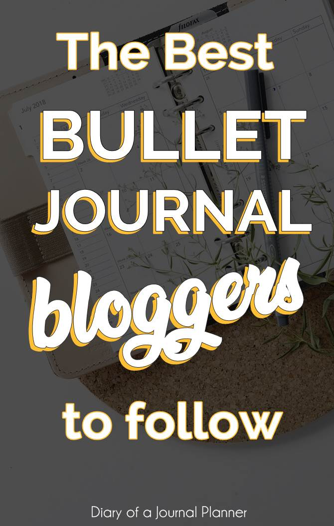 Bullet Journal Blogs to follow this year