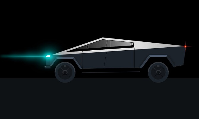 Single div css tesla cybertruck
