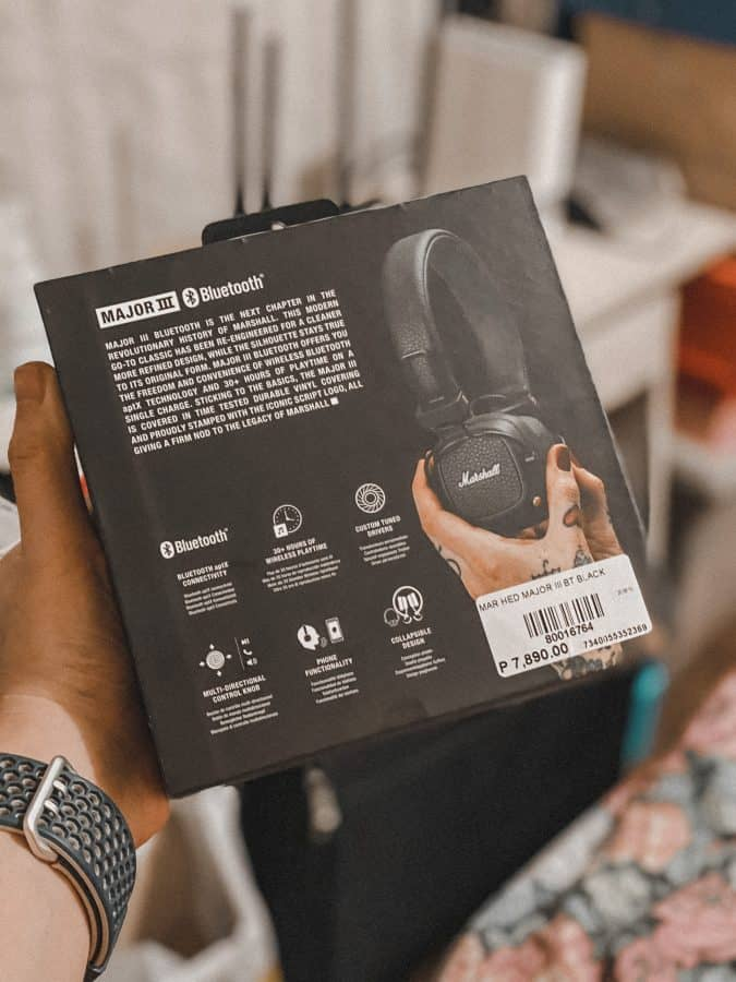 Marshal Major III Bluetooth Headphones Box and Price