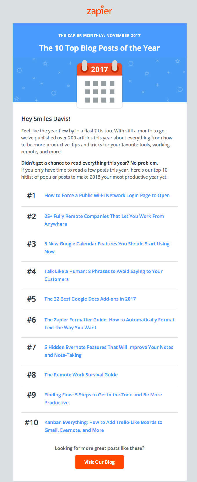 The 10 Top Blog Posts of the Year