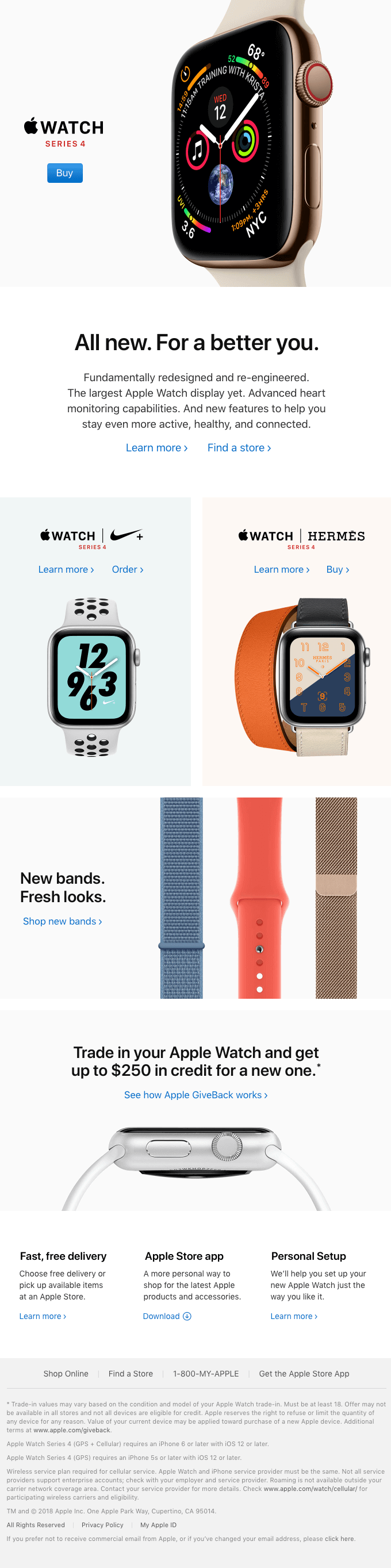 All new. For a better you. Apple launch email sample
