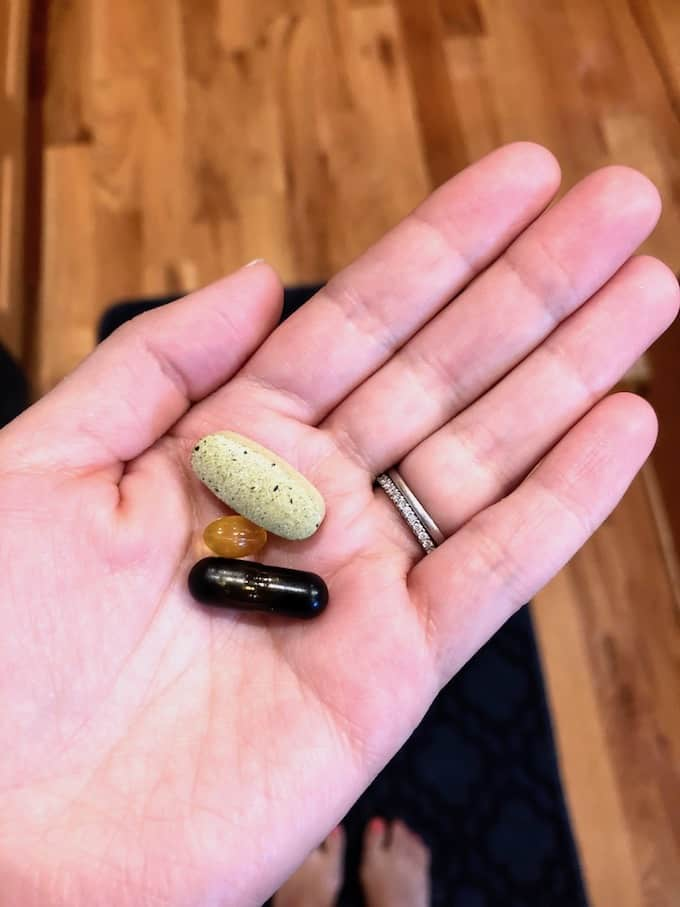 What I eat - supplements