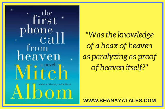 the first phone call from heaven book review