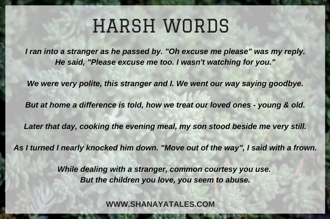 Harsh Words Poem