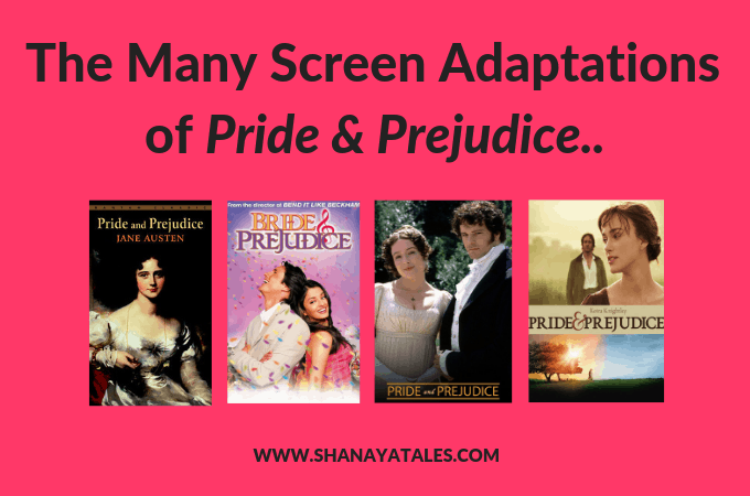 several pride and prejudice book and movie covers