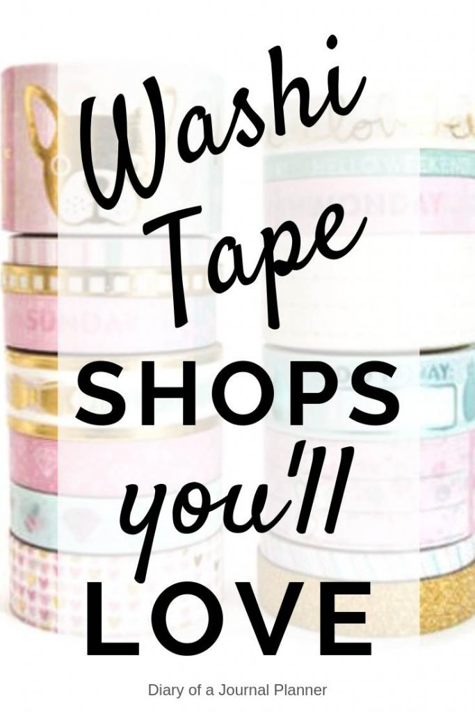 The best etsy washi tape shops you'll love