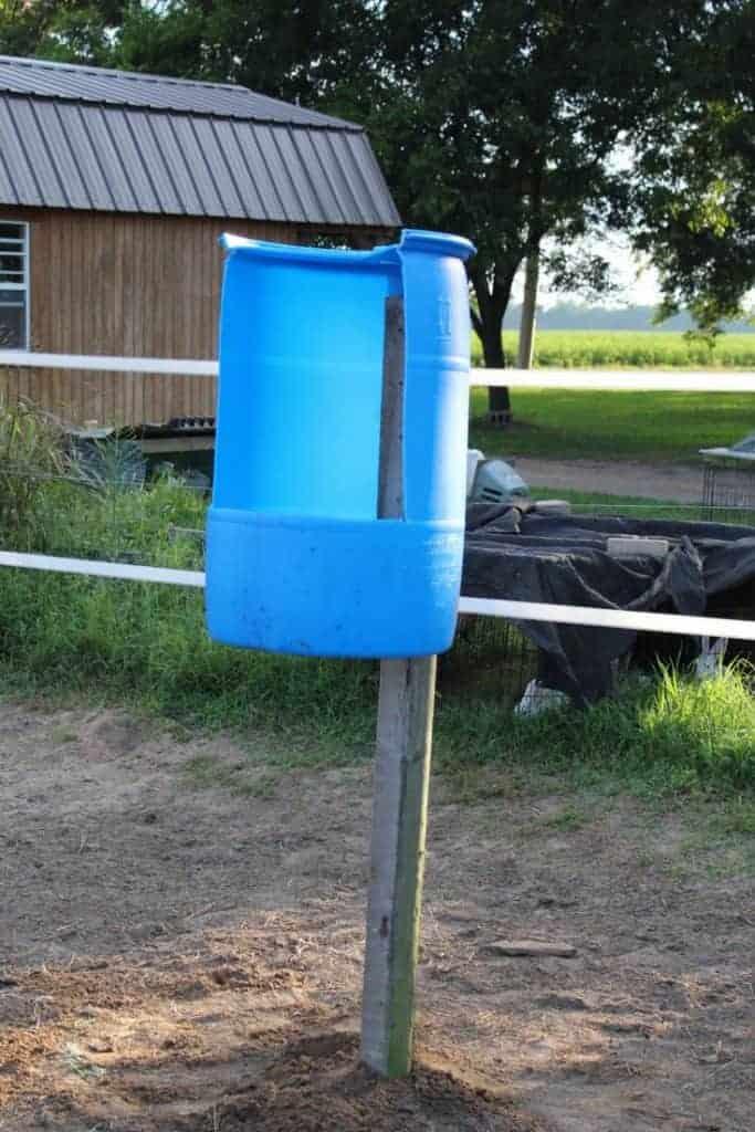 DIY horse feeders for grain