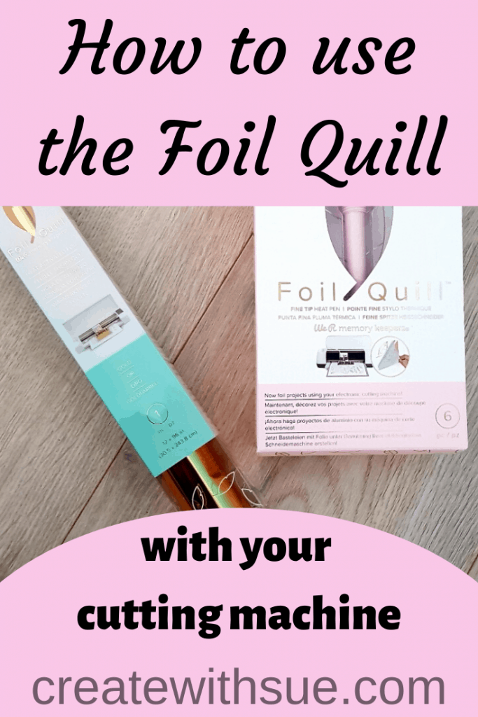 Foil Quill Pinterest Pin for the post how to use the foil quill