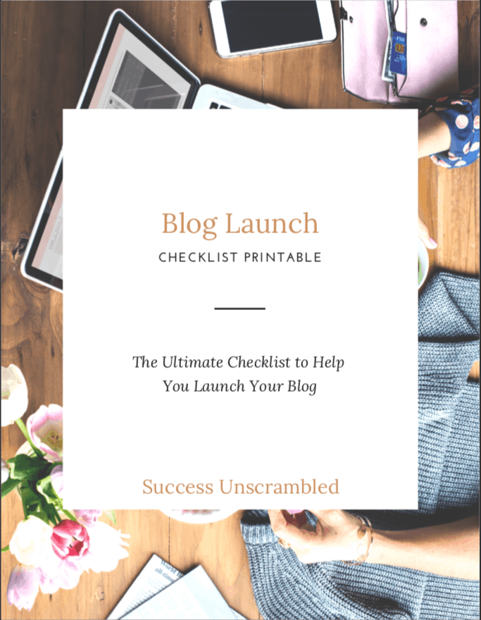 Blog Launch Checklist Printable - cover