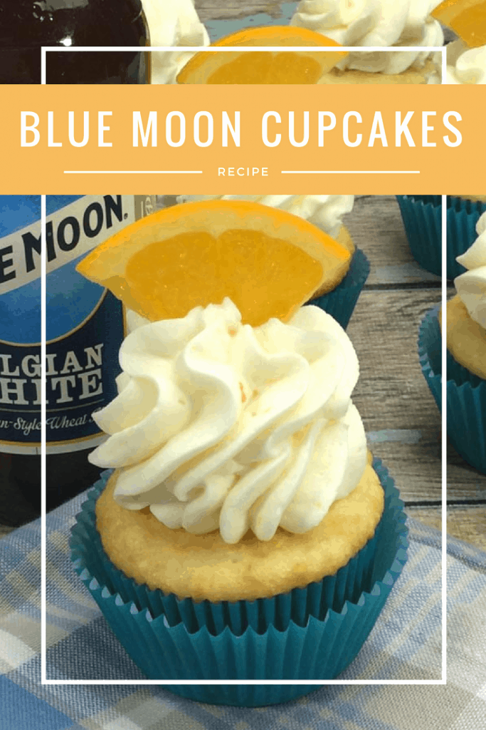 You are going to love these Blue Moon Boozy Cupcakes! The hint of orange and that Blue Moon flavor makes a perfect adult dessert!