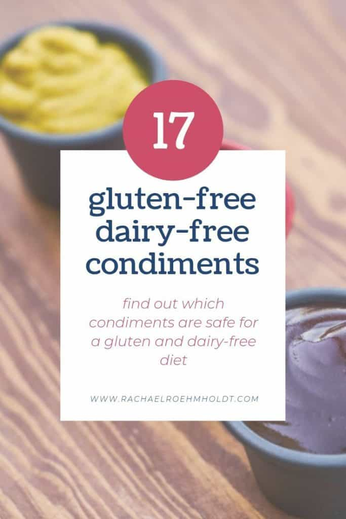 17 Gluten-free Dairy-free Condiments
