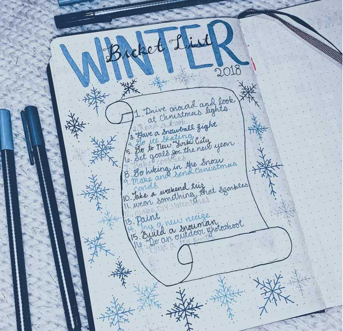 Winter Bujo Collection Ideas