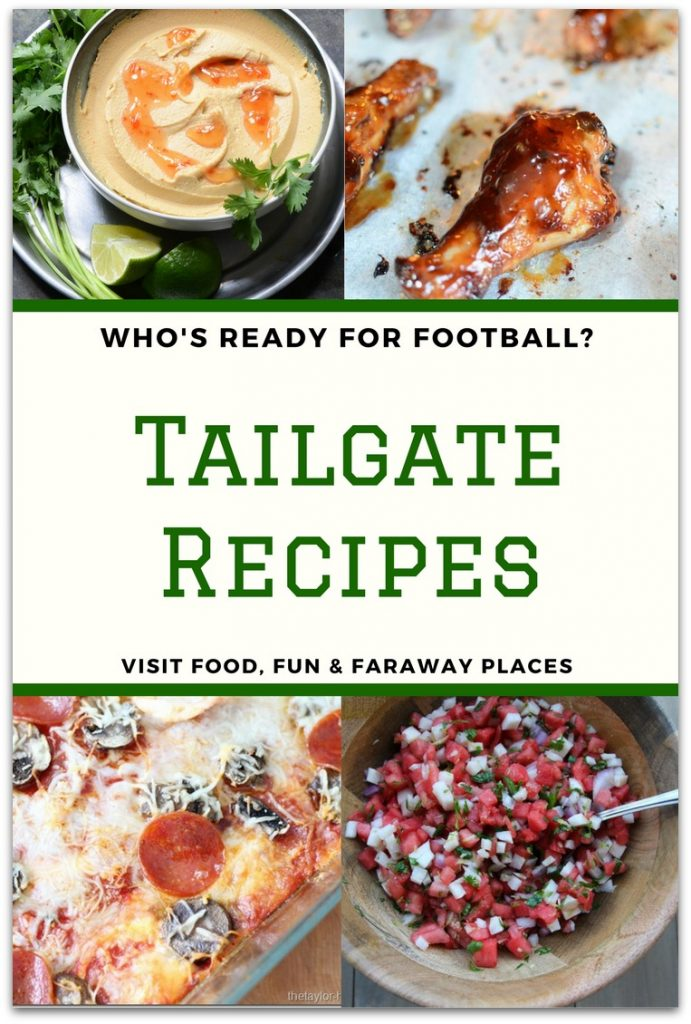 Who's ready for tailgate recipes? The time has come, and I've got some delicious nibbles perfect for sharing! Pack up your gear, grab your friends and family and head on down to the football game.