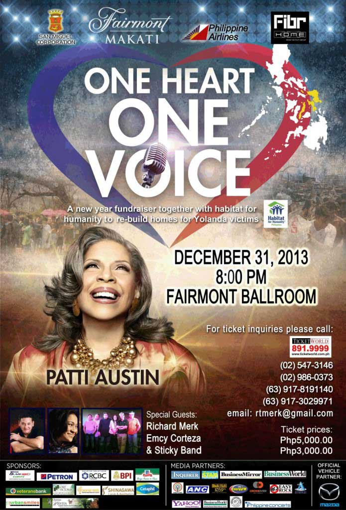 Patti Austin - One Heart One Voice (Benefit Concert for Typhoon Yolanda Victims)
