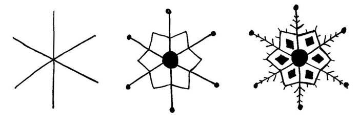 star snowflake doodle