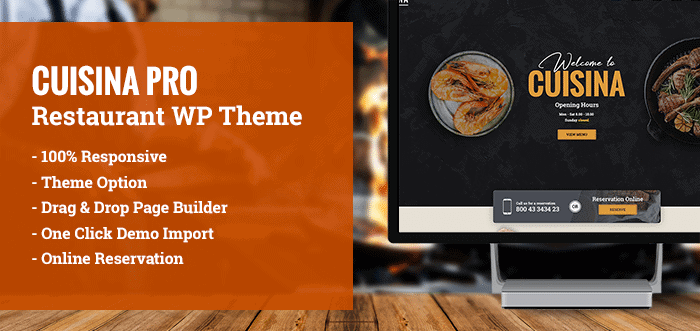 cuisinapro:wordpress themefürrestaurants