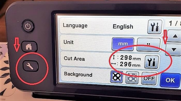 Brother Scan N Cut tools and mat settings identified