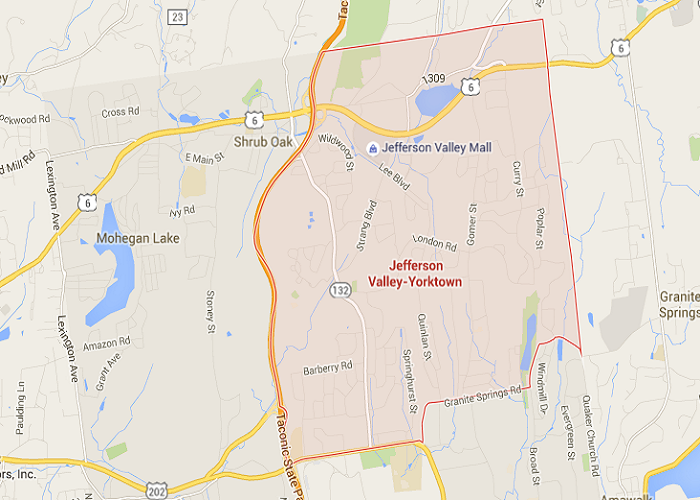 jefferson valley, NY map area of landscapers Landwork Contractors