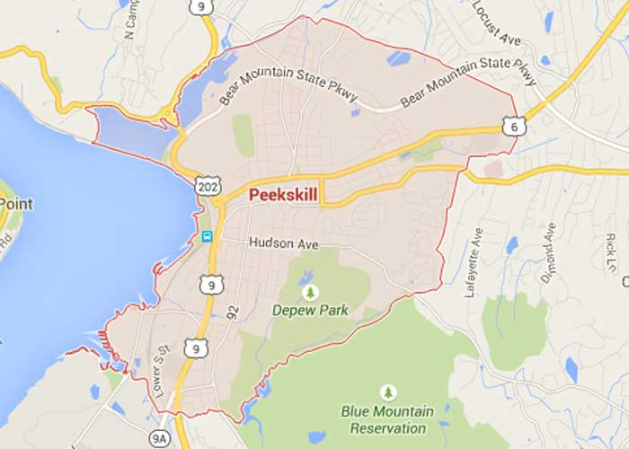 map of Peekskill, NY - Landwork Contractors service are