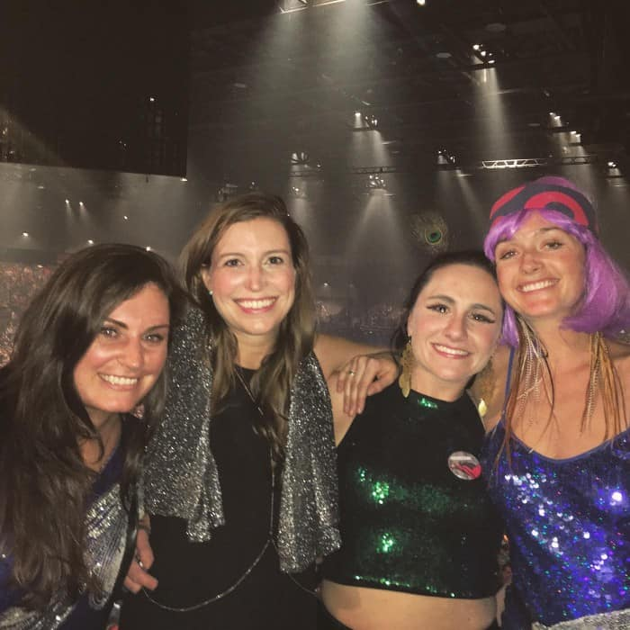 Channing Childs with friends at Phish