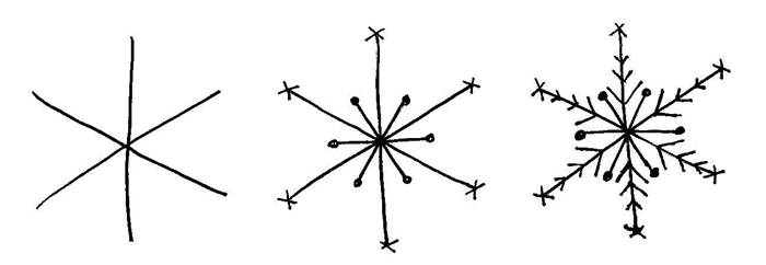 snowflake drawing design