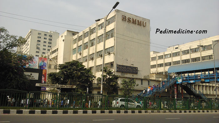 BSMMU PG Hospital front view