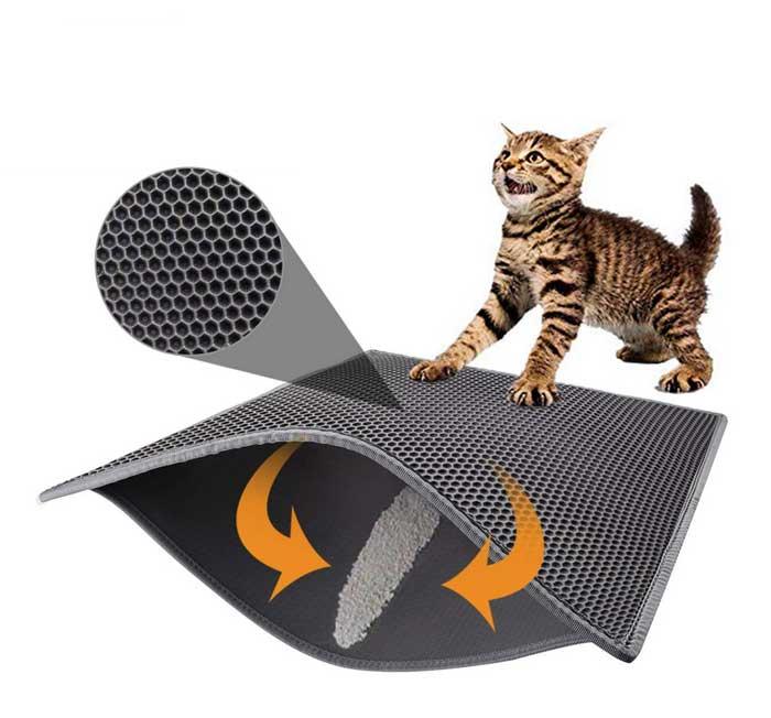 Pieviev Double Layer Cat Litter Mat