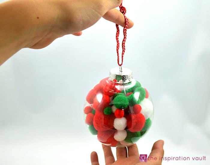 Kids Pom Pom Christmas Ornament Complete